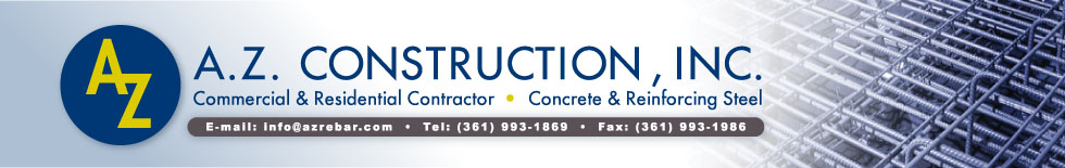 A.Z. Construction, INC. - Commercial & Residential Contractor - Concrete & Reinforcing Steel